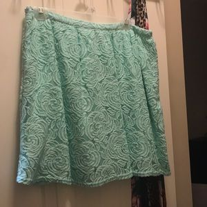 Gorgeous sea foam green mini skirt